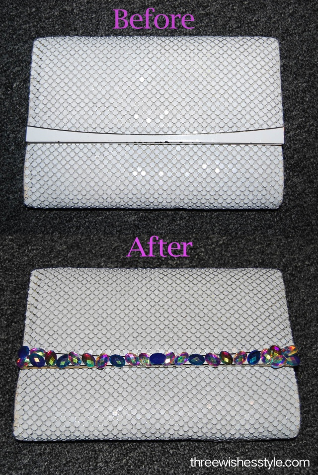DIY Jeweled Clutch : three wishes style