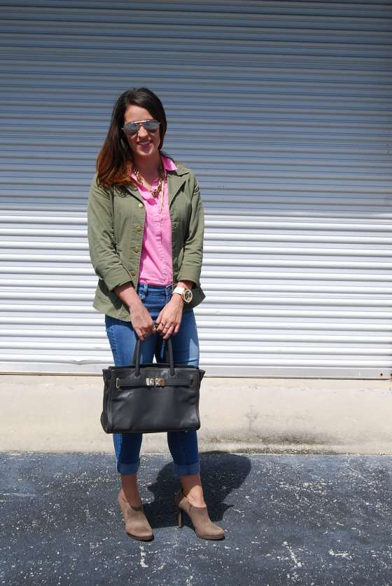 Army Jacket + Pink Shirt : three wishes style
