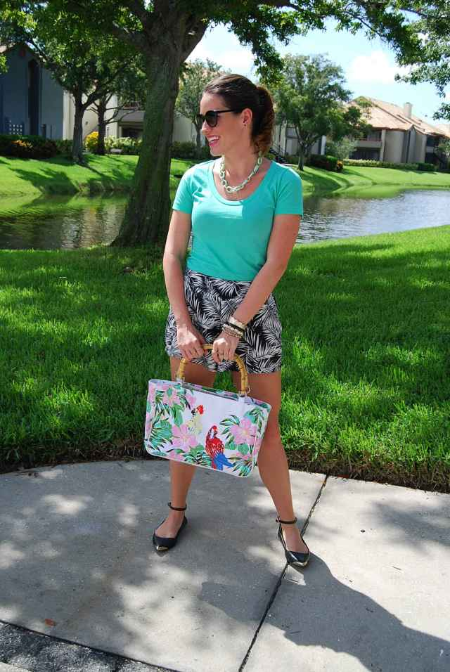 palm tree shorts | three wishes style