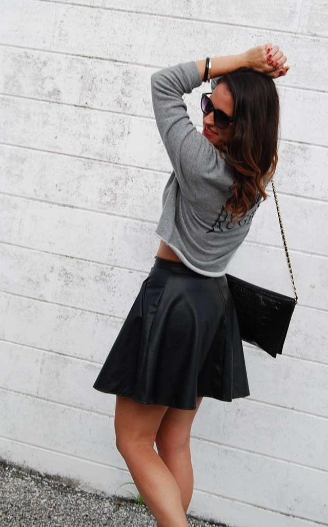 leather sweater | three wishes style