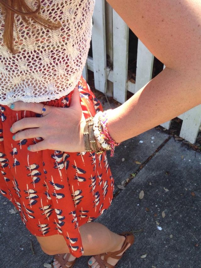 orange skirt | three wishes style