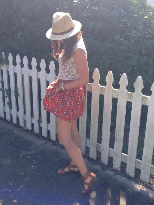 orange skirt   three wishes style