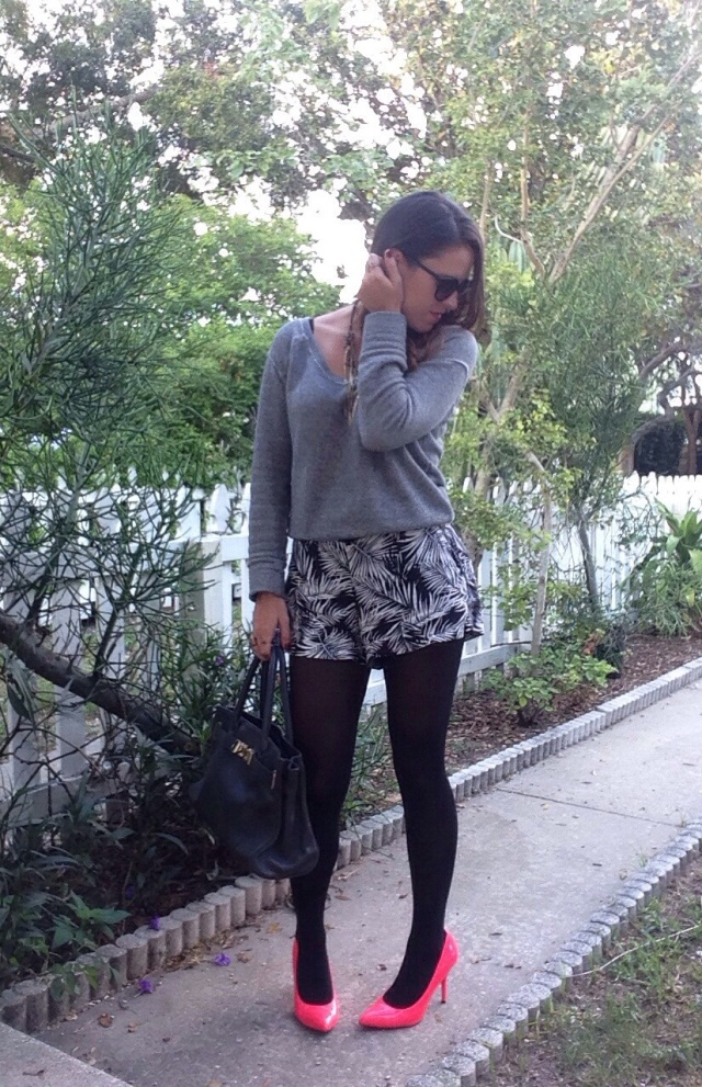 tights with shorts | three wishes style
