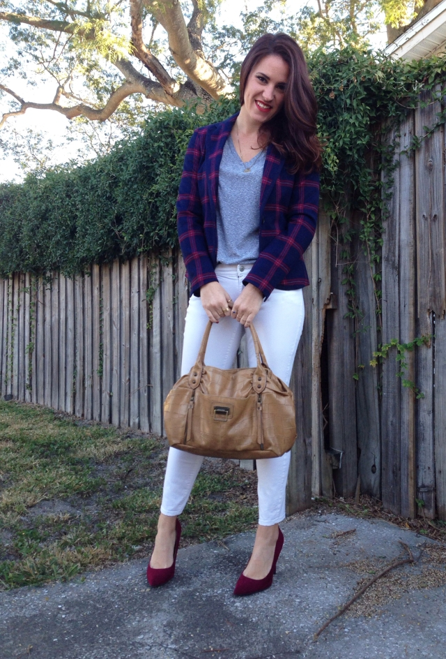 Plaid Blazer | three wishes style