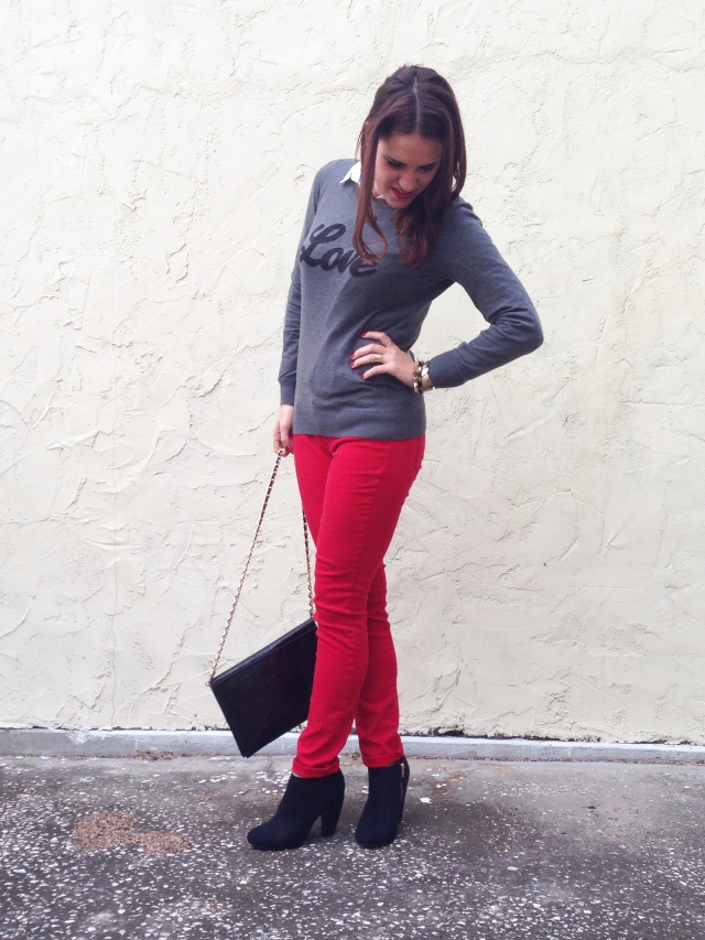 Love + Red Sweater | three wishes style