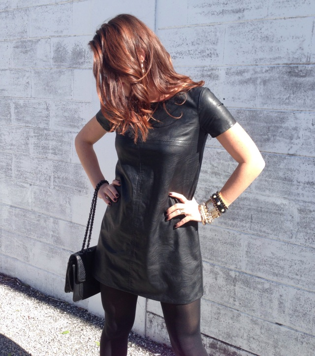 leather dress | three wishes style