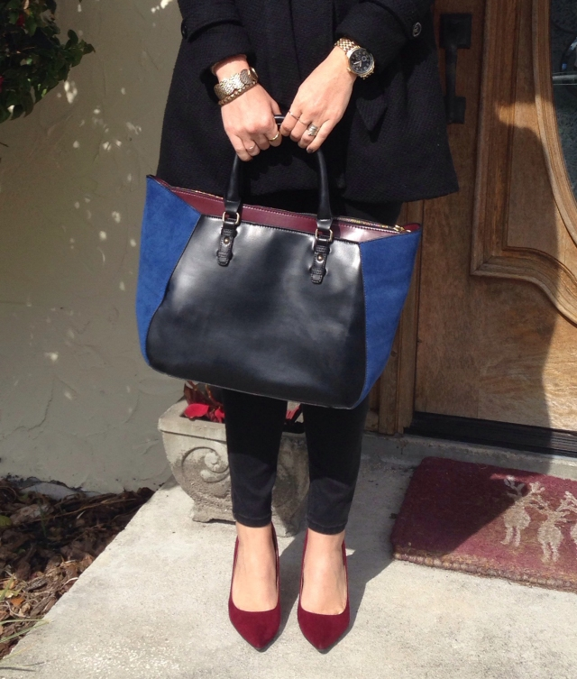 blue purse | three wishes style