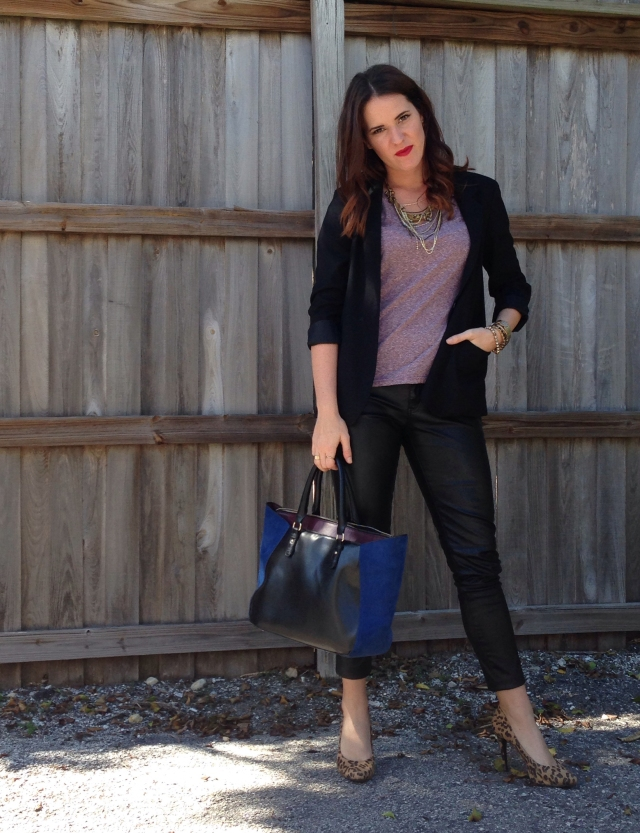 leather + tee | three wishes style