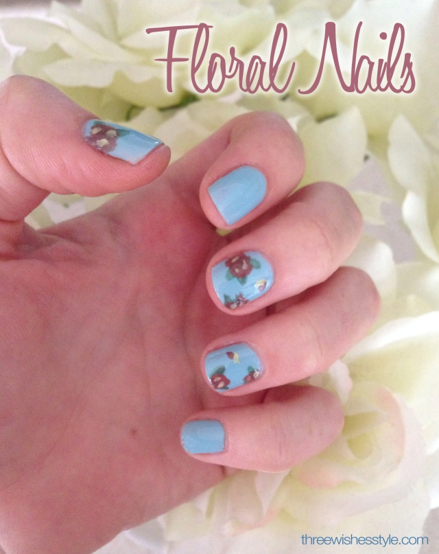 floral nails | three wishes style