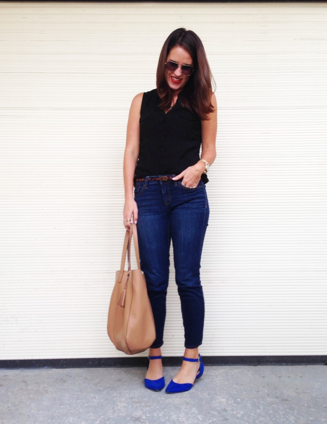 black + blue flats | three wishes style