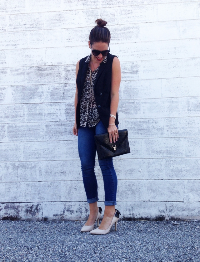 leopard + vest | three wishes style