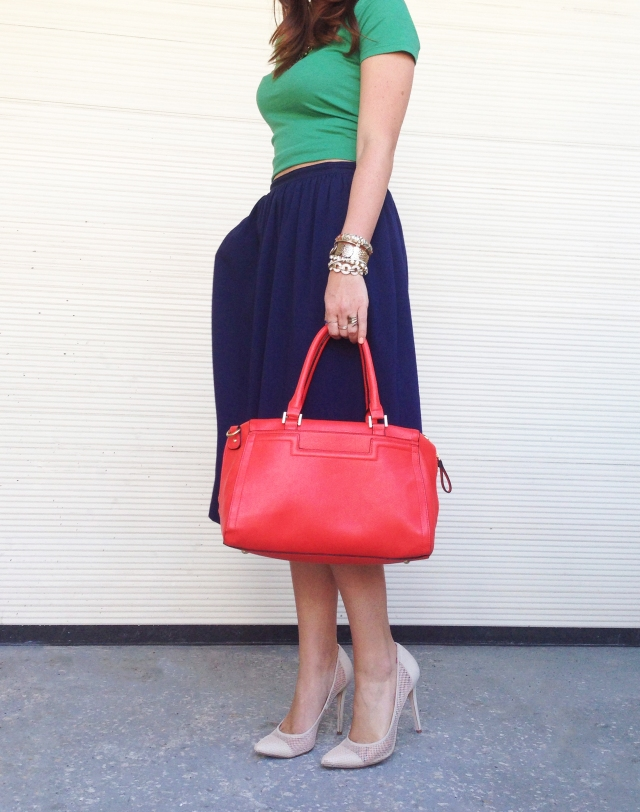 midi + colorblocking | three wishes style