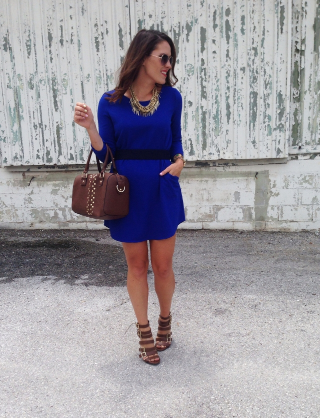 blue dress | three wishes style