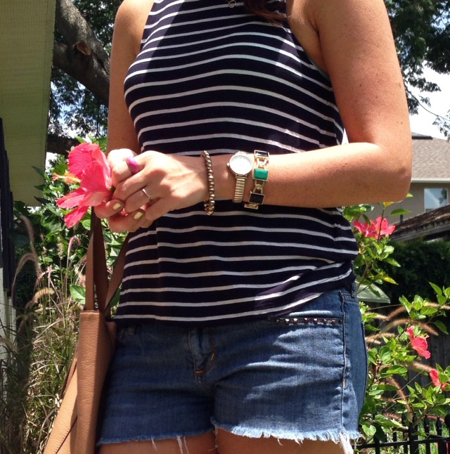 cut offs + stripes | three wishes style