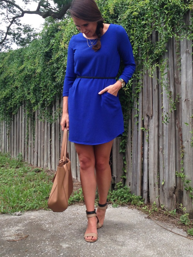 causal blue dress | thre wishes style