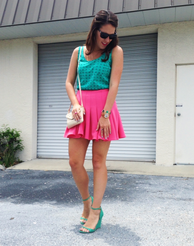 pink skirt again | three wishes style