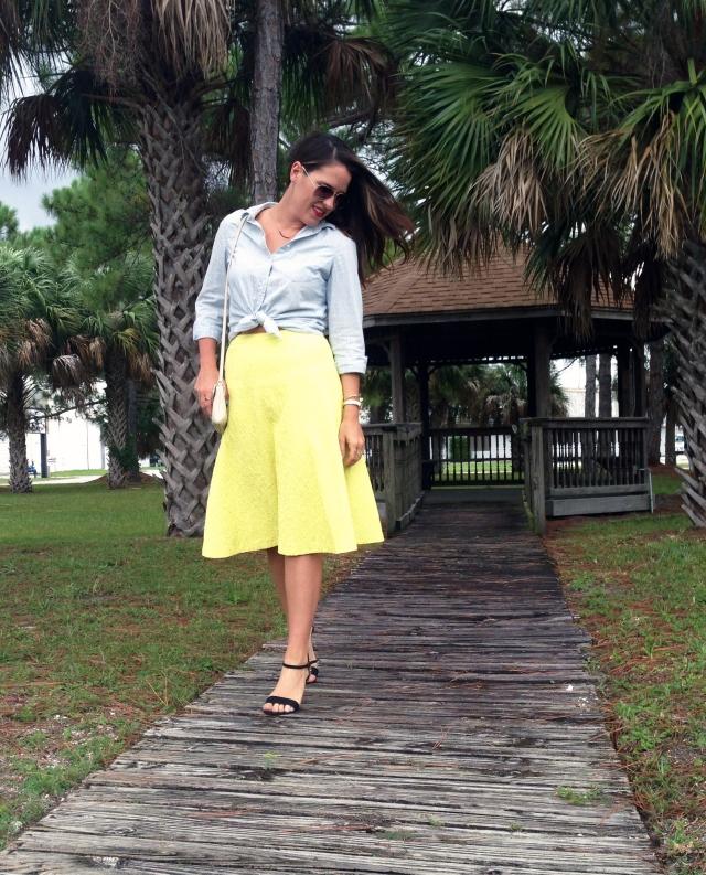 yellow midi | three wishes style