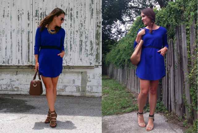 blue dress two ways | three wishes style copy