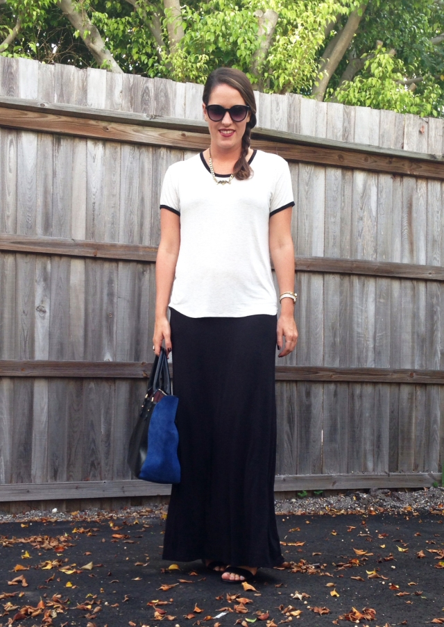 3 black maxi skirt | three wishes style