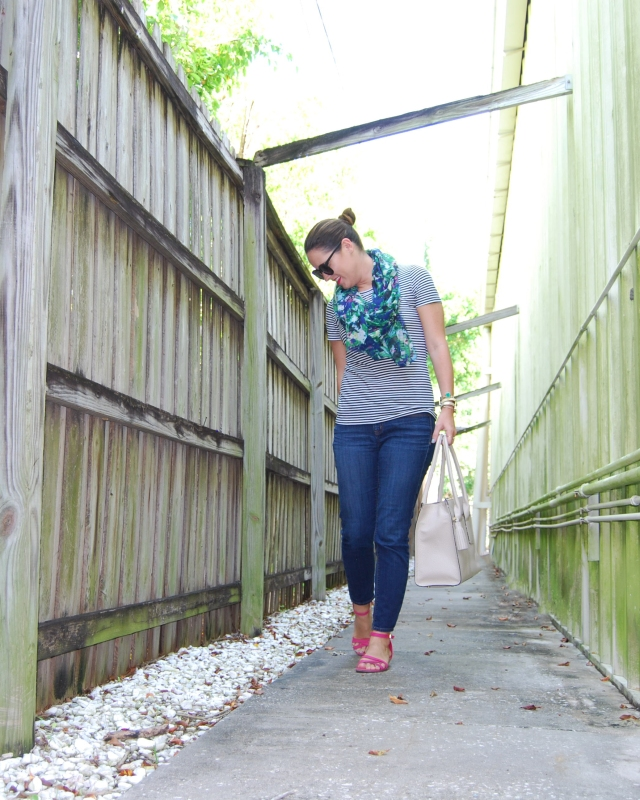 stripes and floral   three wishes style