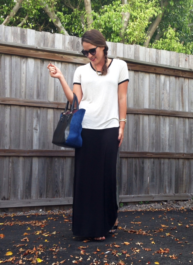 8 black maxi skirt | three wishes style