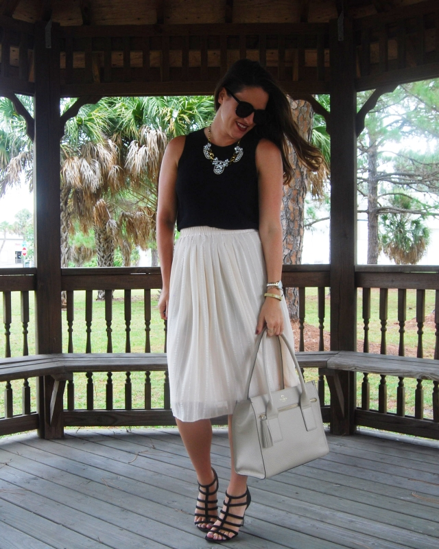 1cream midi skirt | three wishes style