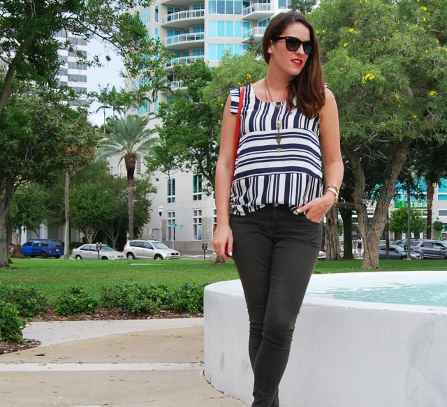 2 stripes + green pants | three wishes style