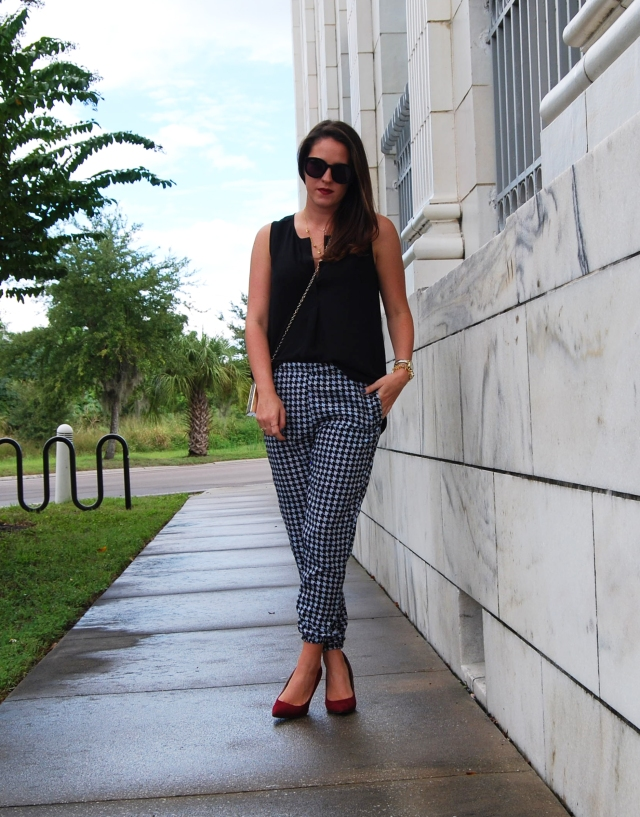 houndstooth pants | three wishes style