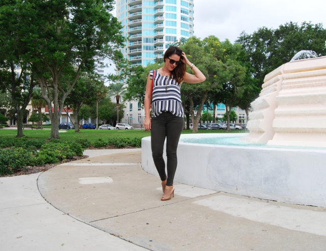 stripes + green pants | three wishes style