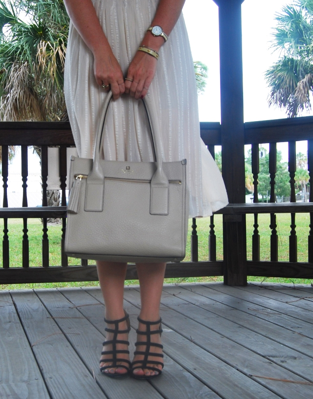 cream midi skirt | three wishes style