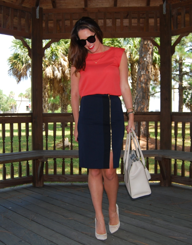 zipper pencil skirt | three wishes style