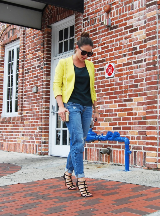 9yellow blazer | three wishes style