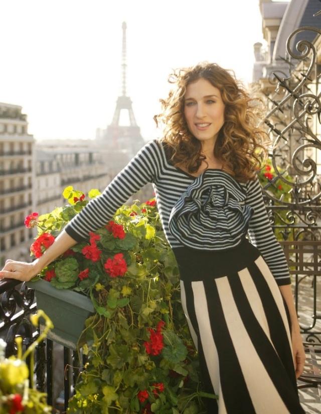 Carrie Bradshaw Paris Stripes