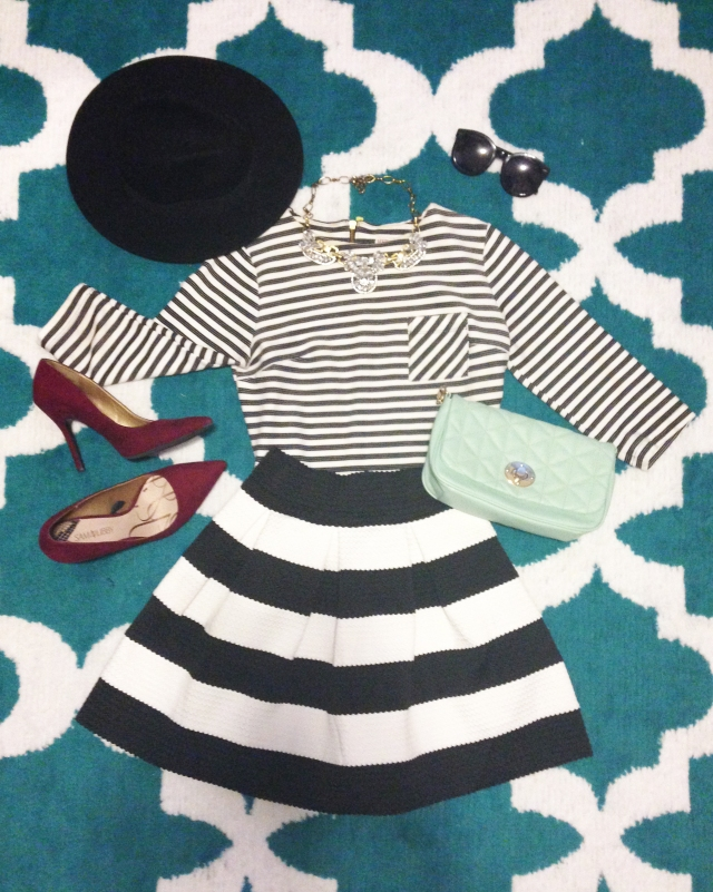 striped skirt4.1