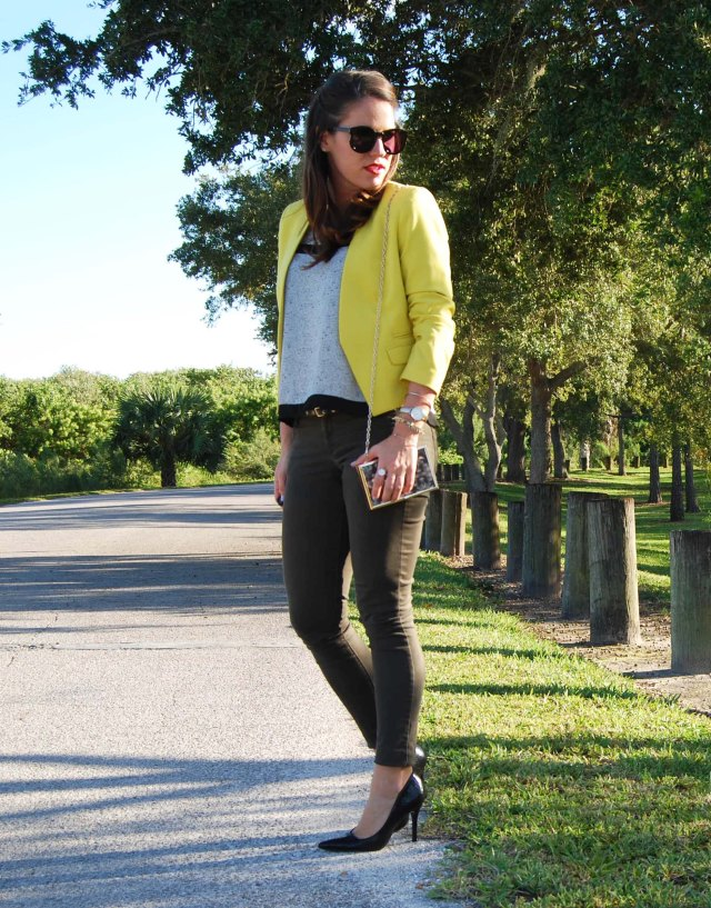 1green pants + yellow jacket | three wishes style