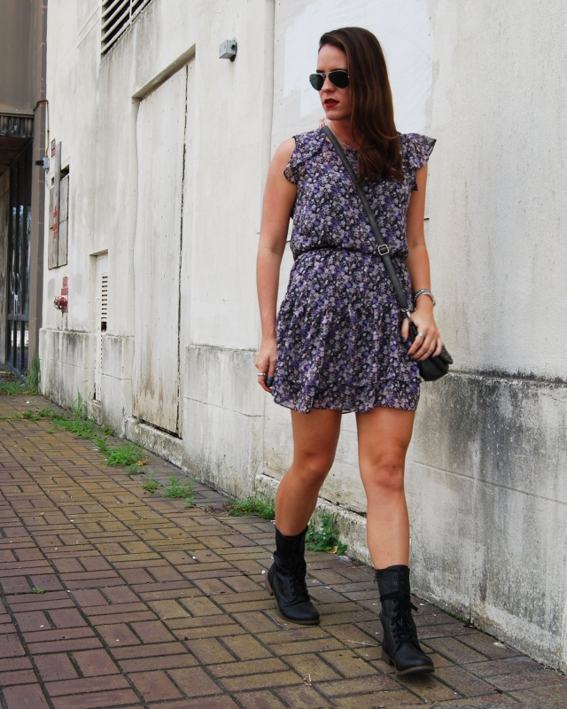combat boots and a dress | three wishes style