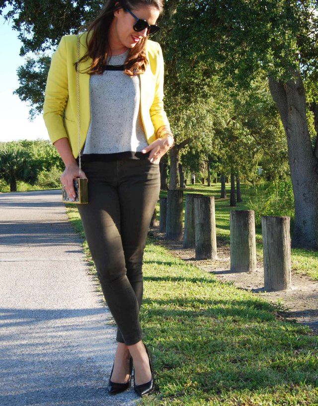 2green pants + yellow jacket | three wishes style