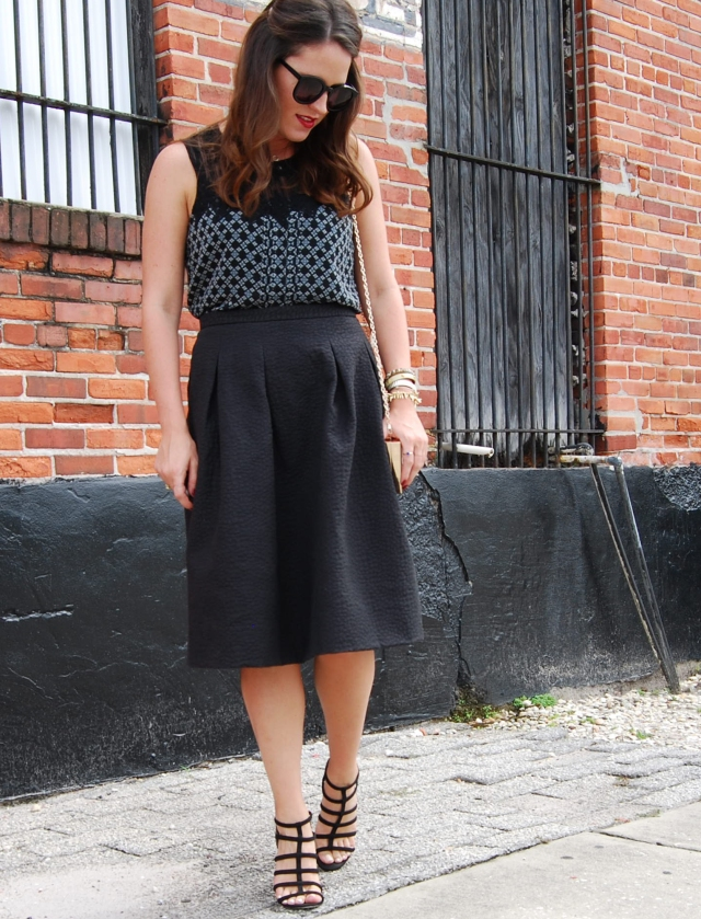black midi skirt | three wishes style