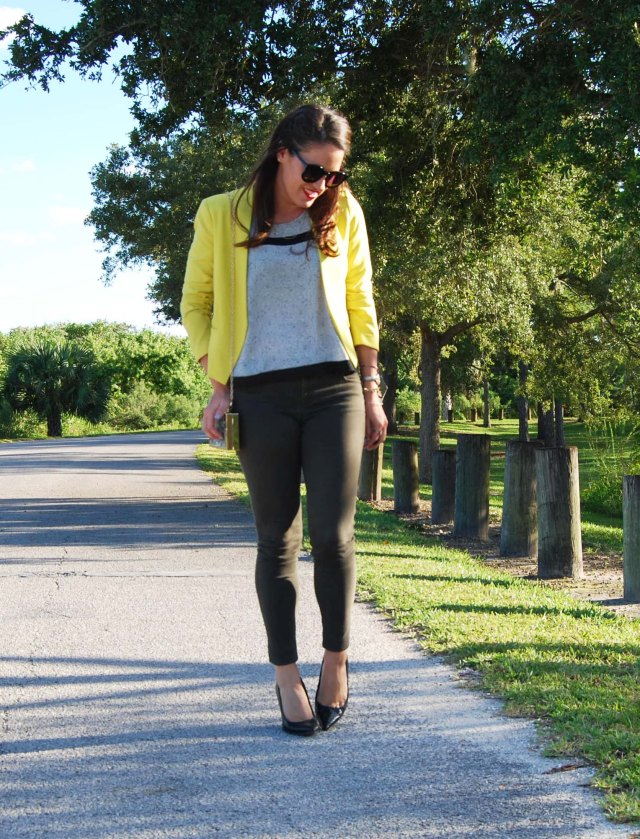 green pants + yellow jacket | three wishes style