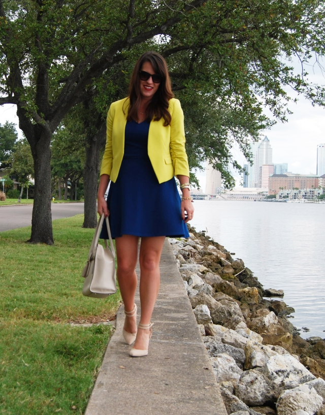 yellow blazer | three wishes style