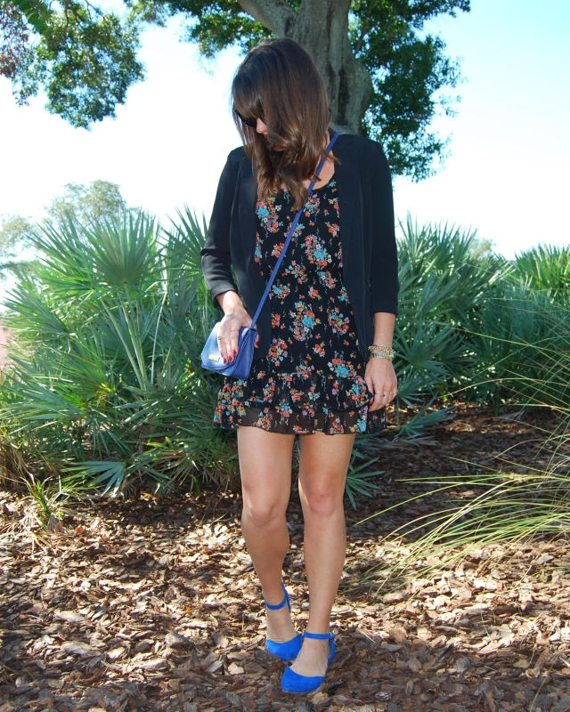 floral dress + bangs | three wishes style