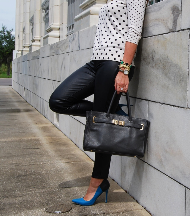 polka dots N leather | three wishes style