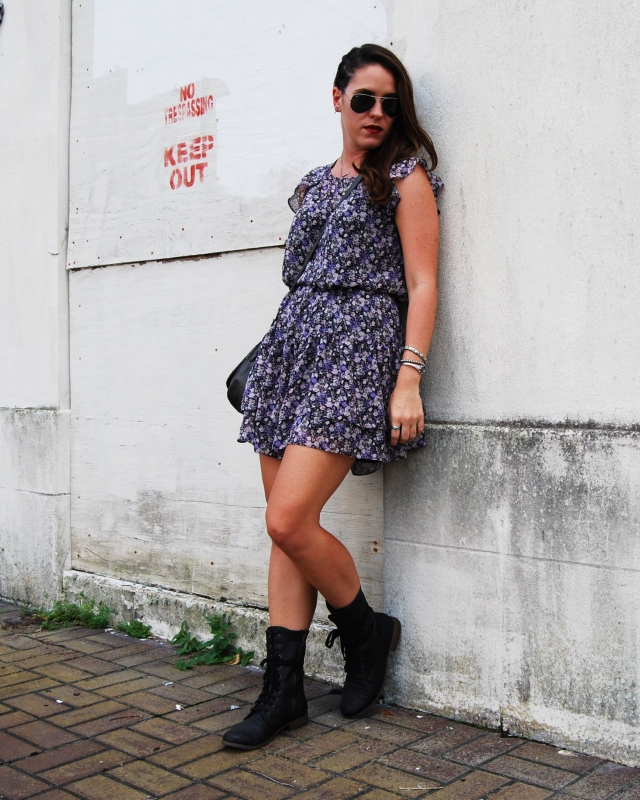 9combat boots and a dress | three wishes style