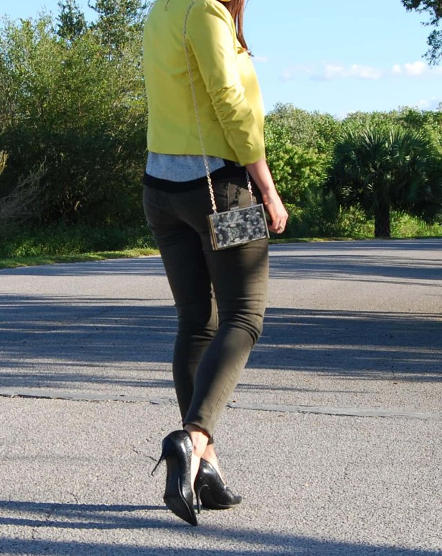 9green pants + yellow jacket | three wishes style