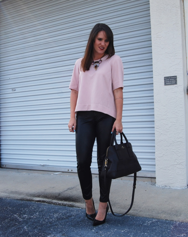blush N leather | three wishes style