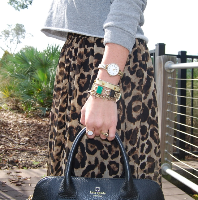 leopard skirt + sweater | three wishes style