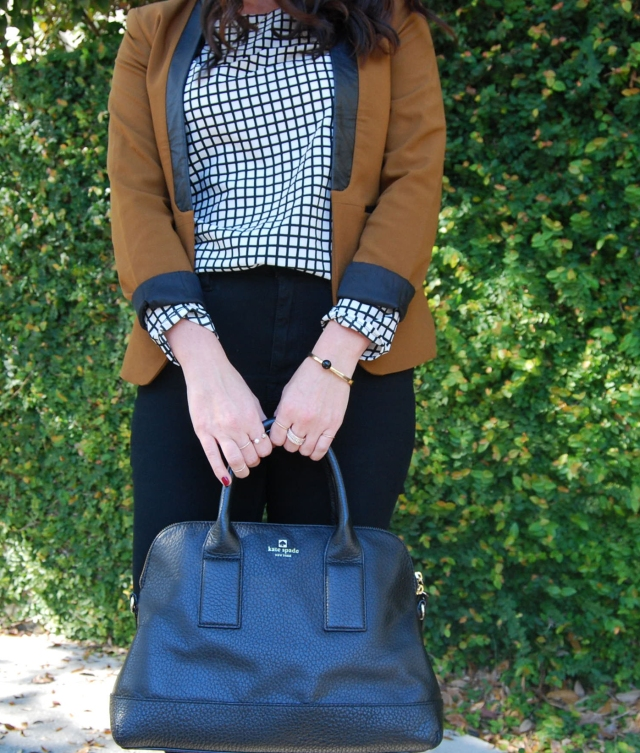 6 orange blazer | three wishes style