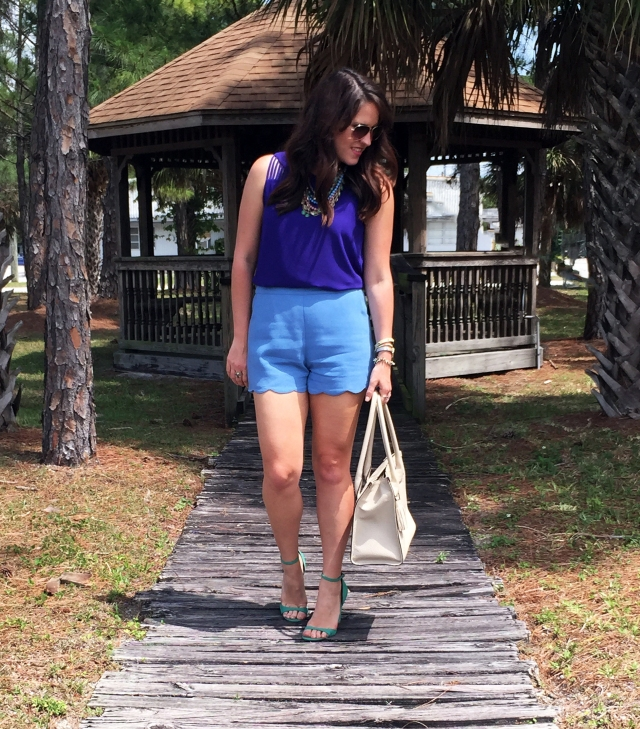 2 blue shorts | three wishes style