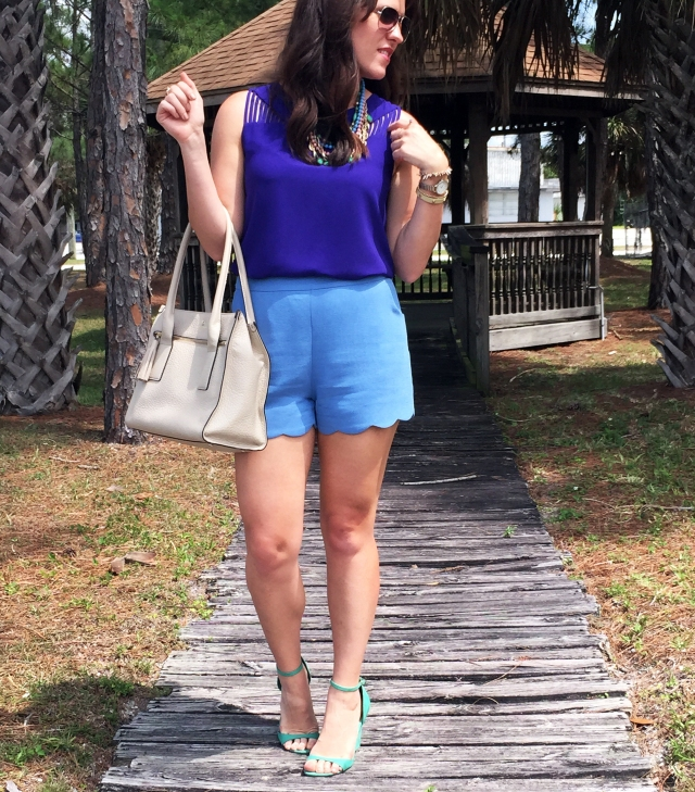 3 blue shorts | three wishes style