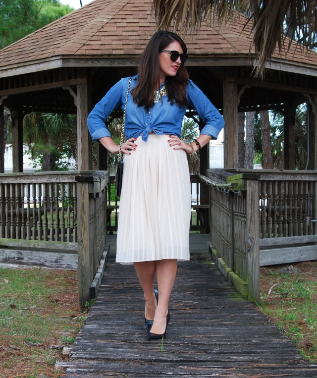3 cream midi | three wishes style